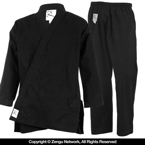 KD Elite Heavyweight (11 oz.) Black Karate Uniform